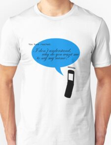 Angel with a cell phone Unisex T-Shirt