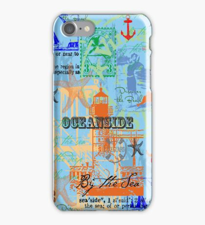 Ocean and Seaside Themed Cover iPhone Case/Skin