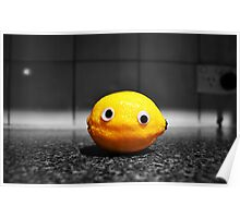 Googly-Eyed Lemon Poster