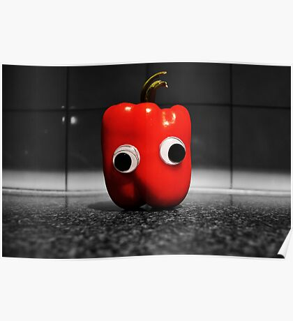 Googly-Eyed Capsicum Poster