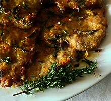 Pan Fried Veal; with Olive Oil, Herb & Citrus Dressing by David Mellor