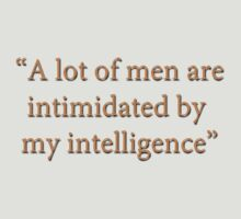 Men scared of intelligence by Andy G Williams