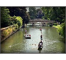 Cambridge Punting Photographic Print