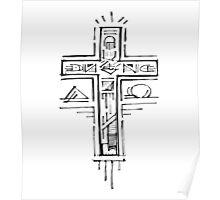 Religious Cross illustration Poster
