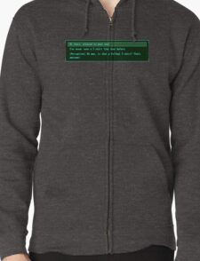 The Conversation Starter Zipped Hoodie