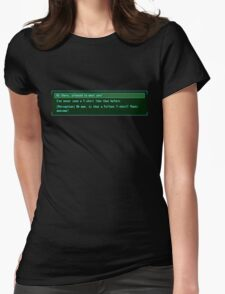 The Conversation Starter Womens Fitted T-Shirt