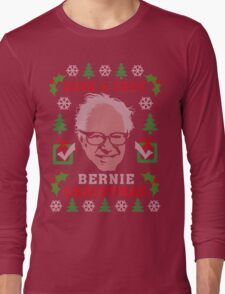 Very Bernie Ugly Christmas Sweater Digital Art Long Sleeve T-Shirt