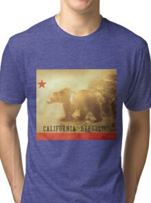 California Flag Tri-blend T-Shirt