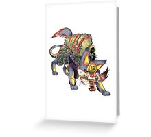 kanji monster Greeting Card