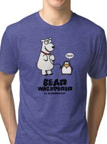 The Bear Whisperer - Penguin vs Polar Bear Tri-blend T-Shirt