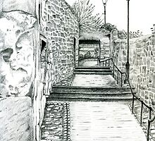 Saut Girnal Wynd: Dysart, Scotland [Pencil version] by Grant Wilson