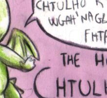 The little, cute and terrible Chtulhu Sticker