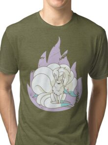 Ninetales - Fire Pokemon (Shiny Version) Tri-blend T-Shirt