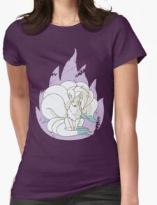 Ninetales - Fire Pokemon (Shiny Version) Womens Fitted T-Shirt