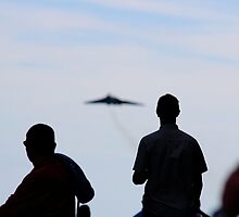 First Sight of the Vulcan XH558 by Theresa Selley