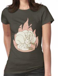 Ninetales - Fire Pokemon Womens Fitted T-Shirt