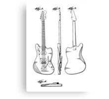 Guitar Patent Canvas Print