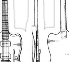 Guitar Patent Sticker