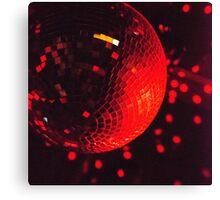 Red Disco Ball Canvas Print