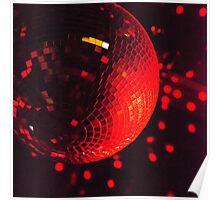 Red Disco Ball Poster