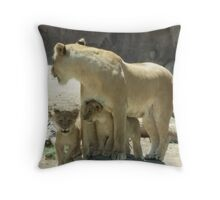 A Mothers Protection Throw Pillow
