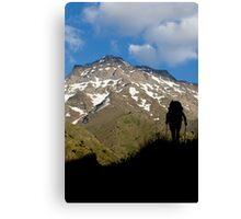 The climber Canvas Print