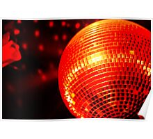 Red Disco Ball 2 Poster