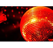 Red Disco Ball 2 Photographic Print