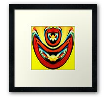 angry reds on yellow Framed Print