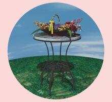 Basket of Flowers One Piece - Long Sleeve