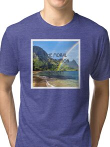 The Moral Degradation of Society Tri-blend T-Shirt