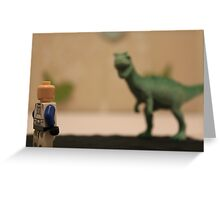 Stormtrooper VS. Dinosaur  Greeting Card