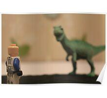 Stormtrooper VS. Dinosaur  Poster