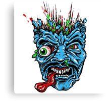 Blue Monster Zombie Art Design Monster Canvas Print
