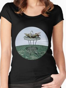 Basket of Flowers Women's Fitted Scoop T-Shirt