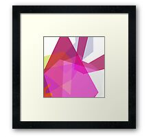 Pink neon refraction (abstract geometry) Framed Print