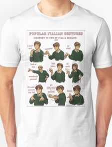 Popular Italian Gestures brought to you by Italia Romano T-Shirt