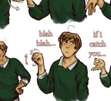 Popular Italian Gestures brought to you by Italia Romano Sticker