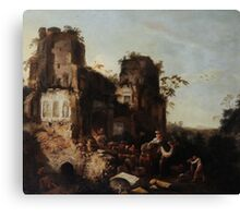 Circle of Jan Griffier the Elder The Return of the Caravan from a Grand Tour Canvas Print