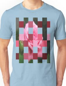 Pink Roses in Anzures 4 Art Rectangles 15 Unisex T-Shirt