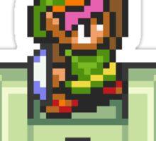 Link holding Master Sword Sticker