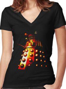 Dalek Gamma – Fire Women's Fitted V-Neck T-Shirt