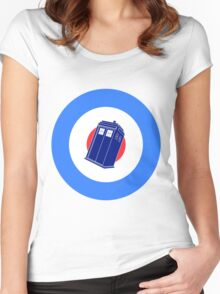 TARDIS Mod Target Women's Fitted Scoop T-Shirt