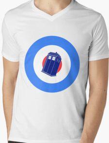 TARDIS Mod Target Mens V-Neck T-Shirt
