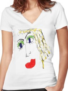 BEAUTY too Women's Fitted V-Neck T-Shirt