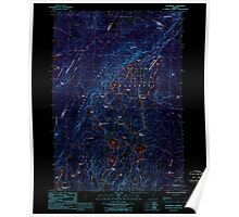 USGS Topo Map  Vermont VT Woodbury 337729 1986 24000 Inverted Poster