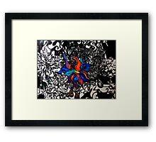Abstract Flower Garden Framed Print