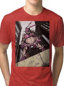 The Pink Bunny Saves Tri-blend T-Shirt