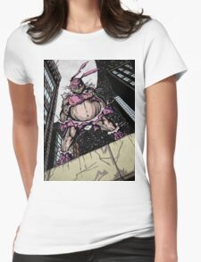 The Pink Bunny Saves Womens Fitted T-Shirt