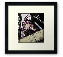 The Pink Bunny Saves Framed Print